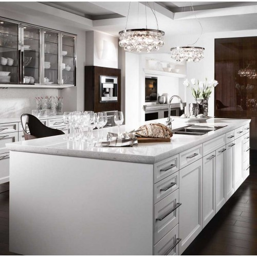 White Kitchen Marble Benchtop: Natural Stone Benchtop